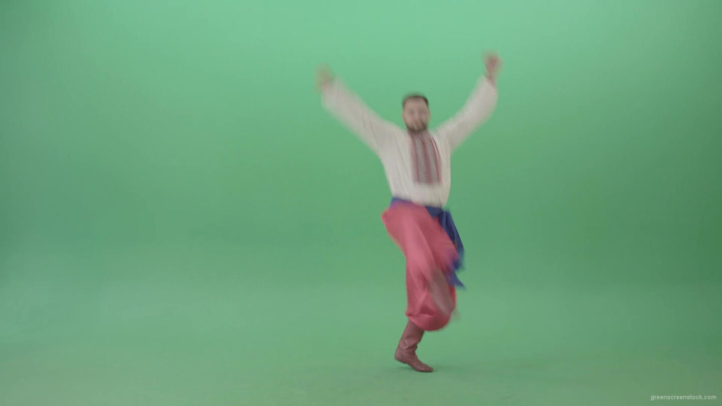 vj video background Jumping-ukrainian-man-dance-folk-Hopak-isolated-on-Green-Screen-4K-Video-Footage-1920_003