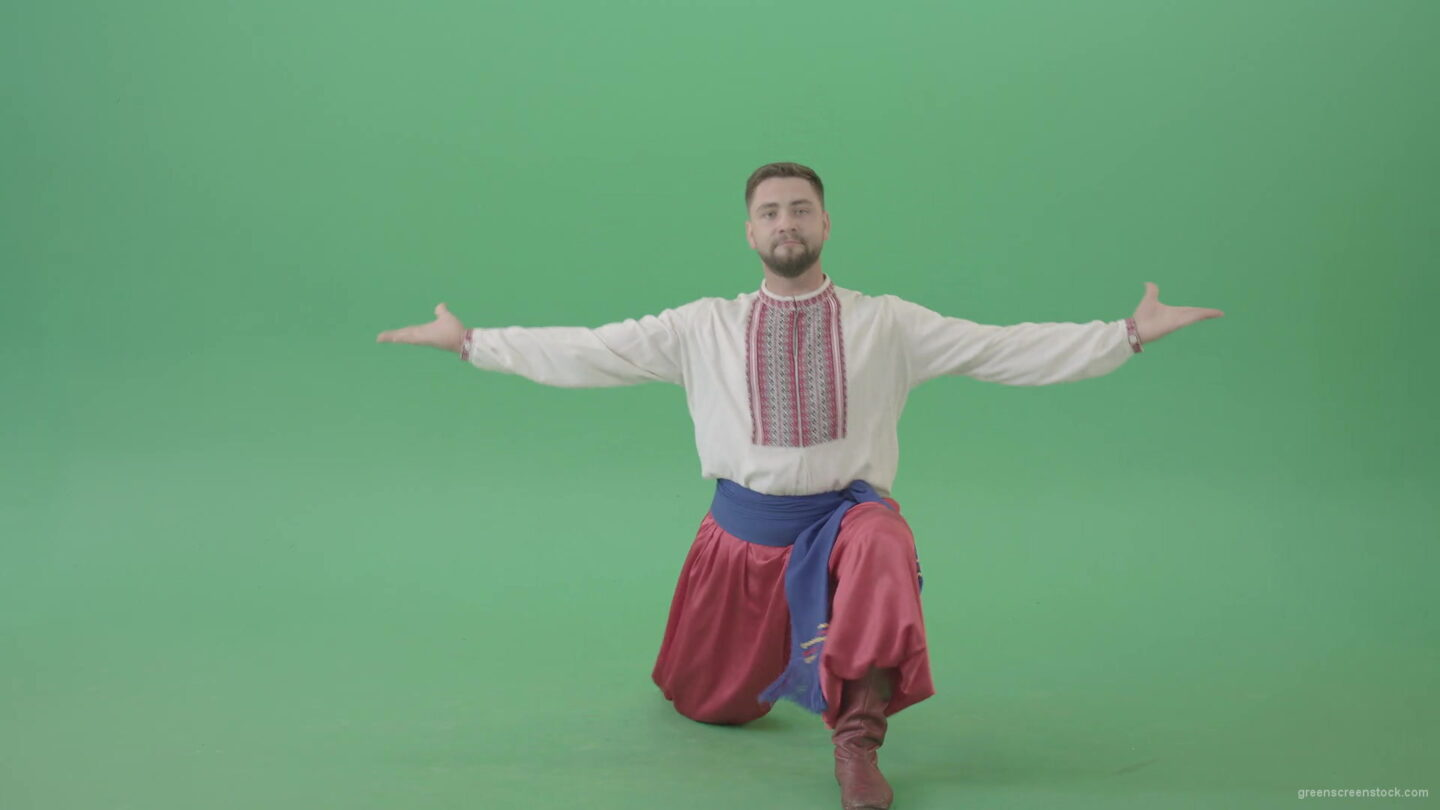 Ukraine-Hopak-social-ethno-dance-by-UA-Man-isolated-on-Green-screen-4K-Video-Footage-1920_009 Green Screen Stock