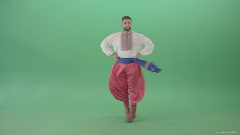 Ukraine-cossack-man-spinning-dance-on-green-screen-4K-Video-Footage-1920_004 Green Screen Stock