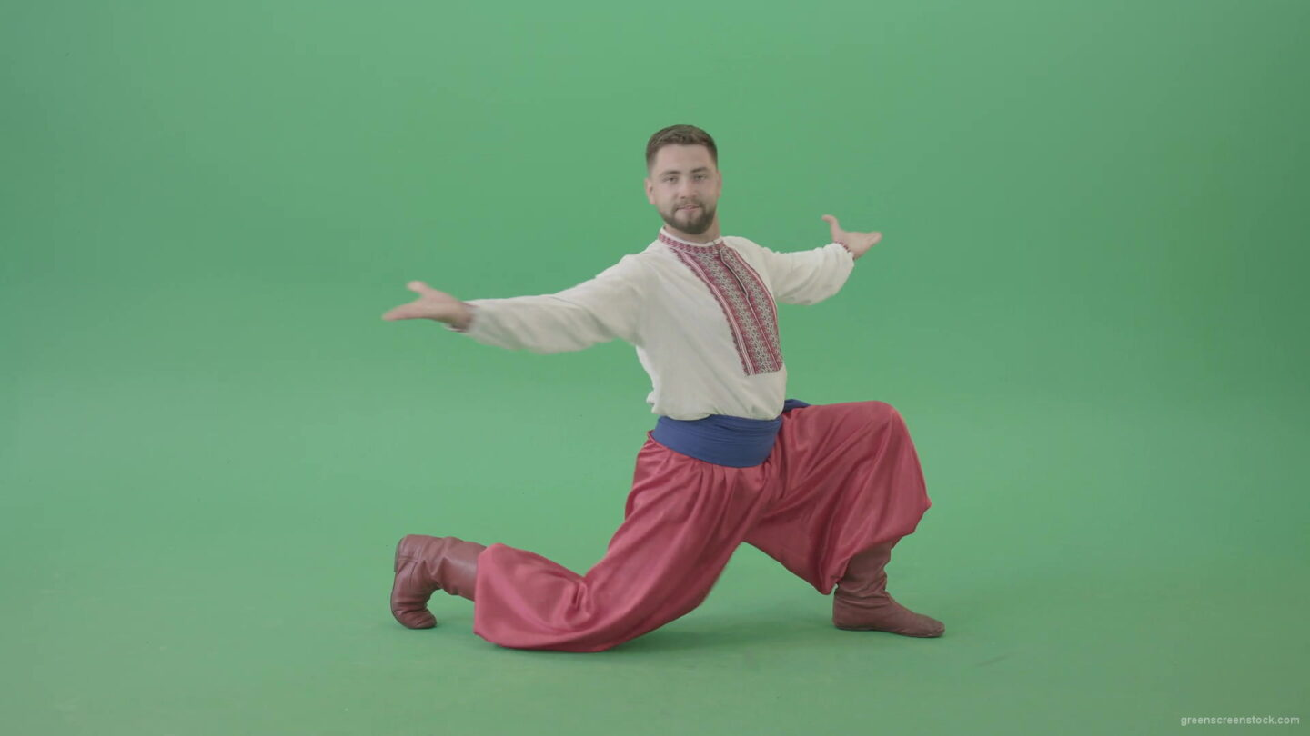 Ukraine-dancing-man-dance-cossack-folk-Hopak-isolated-on-Green-Screen-1920_009 Green Screen Stock