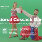 green screen ukraine cossack man woman dancing hopak