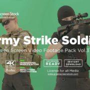 Army-Strike-Soldier-man on -Green-Screen-Video-Footage-4K
