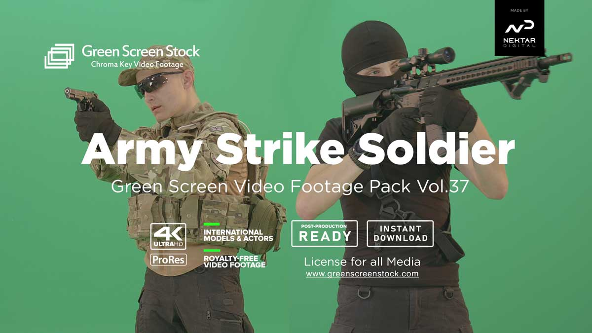 Army-Strike-Soldier-man on -Green-Screen-Video-Footage-4K