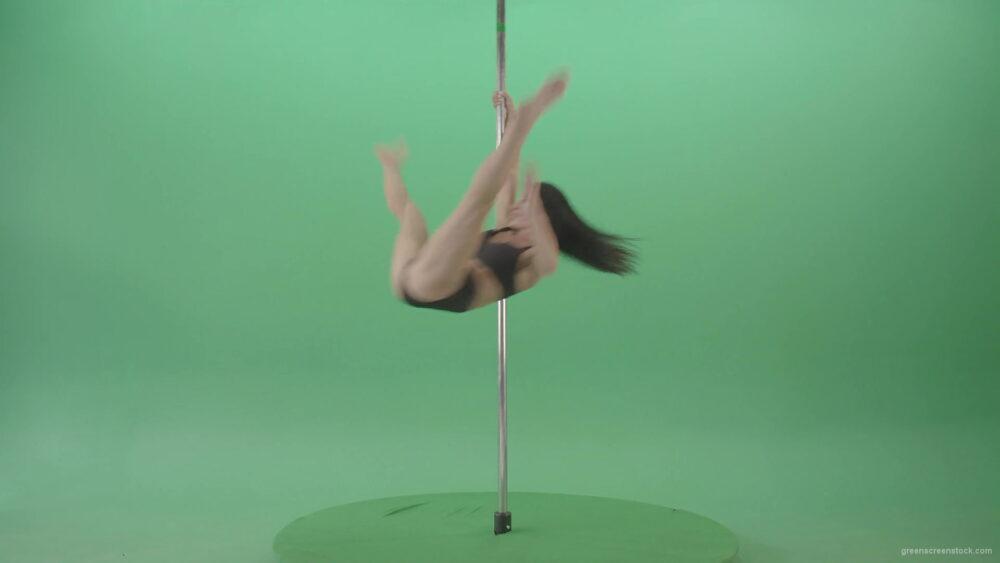 vj video background Artistic-gymnast-model-showing-strip-pole-dance-element-on-green-screen-4K-Video-Footage-1920_003