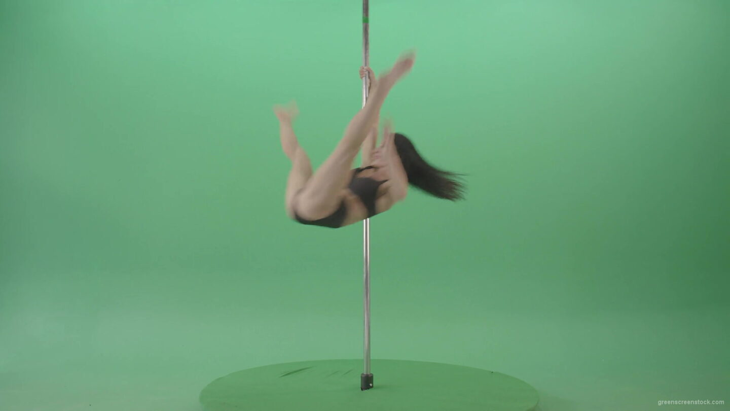 vj video background Artistic-gymnast-model-showing-strip-pole-dance-element-on-green-screen-4K-Video-Footage-1920_003