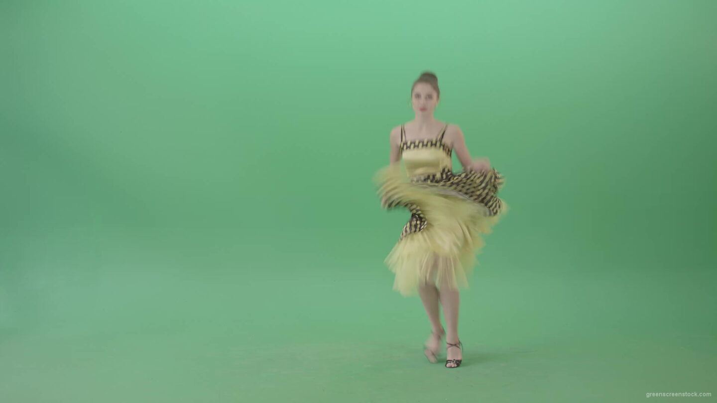 vj video background Beautiful-Woman-dancing-Boogie-woogie-and-jumping-in-Jazz-dance-isolated-on-Green-Screen-4K-Video-Footage-1920_003