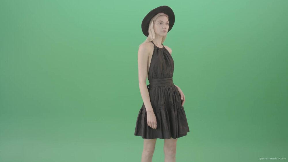 vj video background Blonde-woman-in-black-dress-posing-as-top-model-fo-photographer-4K-Green-Screen-Video-Footage-1920_003