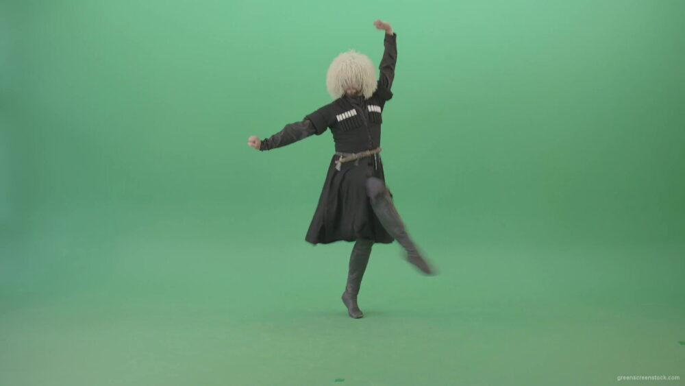 vj video background Caucasian-Man-jumping-on-one-leg-in-folk-traditional-Georgia-Dance-on-Green-Screen-4K-Video-Footage-1920_003