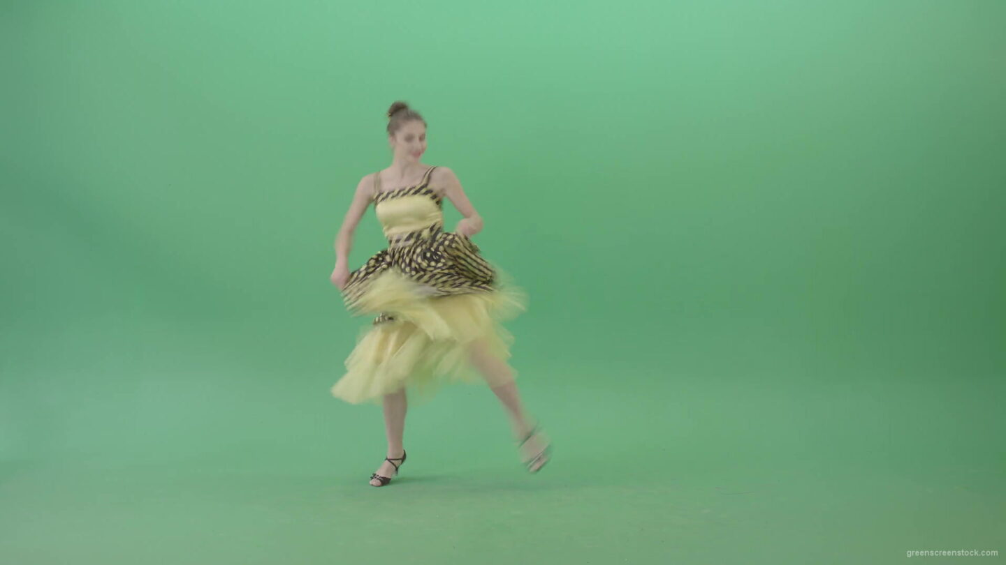vj video background Elegant-Girl-in-Yellow-dress-Dancing-Boogie-woogie-and-chill-on-Green-Screen-4K-Video-Footage-1920_003
