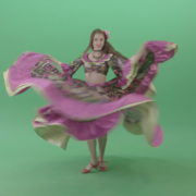 Elegant-Tzigane-romana-gypsy-balkan-women-spining-pink-dress-dancing-folk-isolated-in-green-screen-studio-4K-Green-Screen-Video-Footage-1920_009 Green Screen Stock