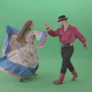 Folk-national-romania-dance-by-gypsy-tzigane-couple-isolated-on-green-screen-4K-video-footage-1920_006 Green Screen Stock
