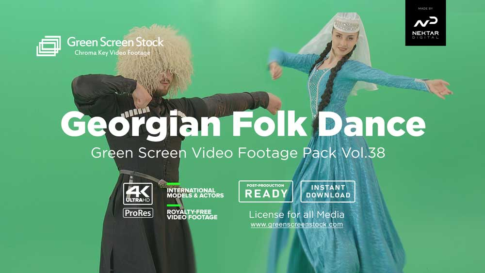 Georgian-Tranditional-Dance-Video-Footage-Green-Screen
