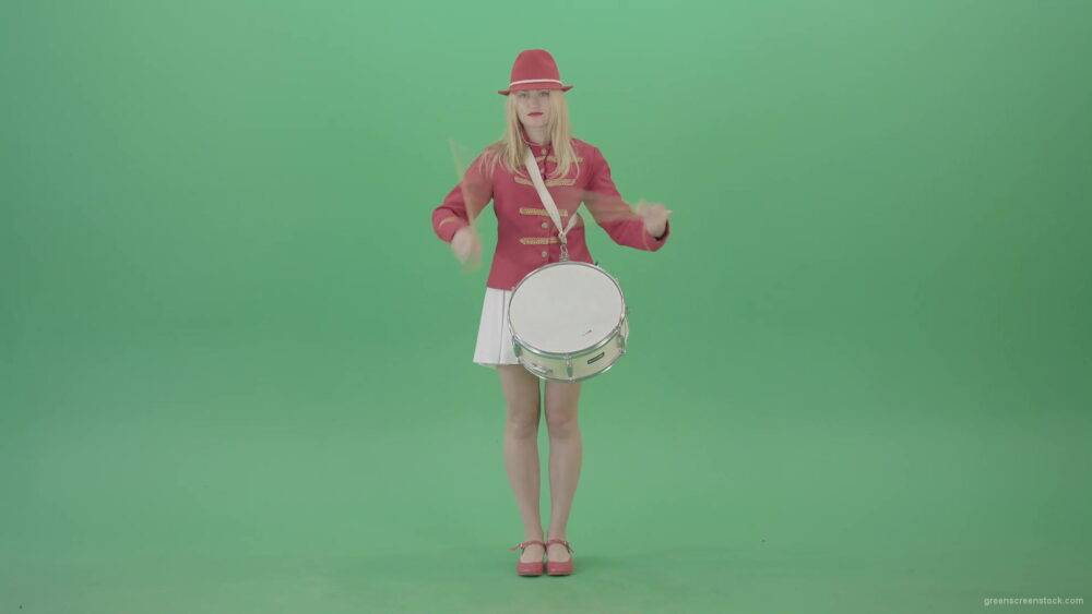 vj video background Girl-fast-playing-drum-music-instrument-isolated-on-Green-Background-4K-Video-Footage-1920_003