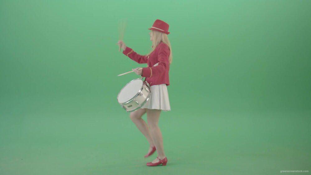 vj video background Girl-marching-and-spinning-playind-drums-on-green-screen-4K-Video-Clip-1920_003