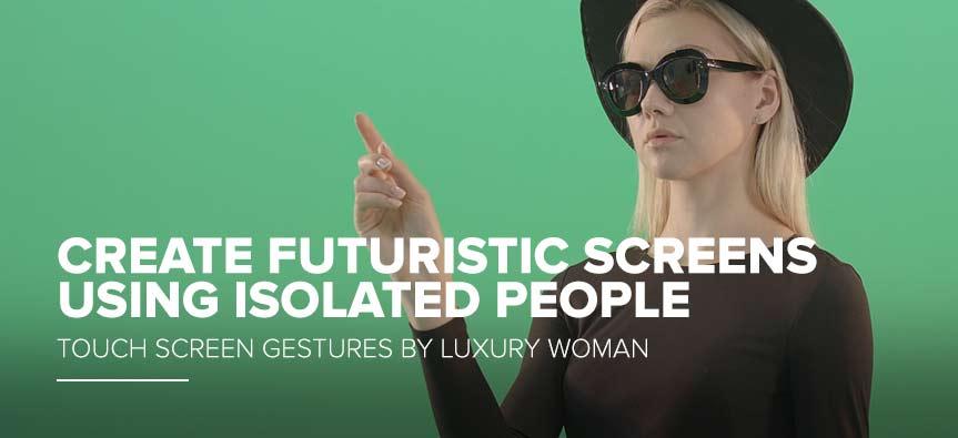 touch screen peopl gesture onn green screen video footage