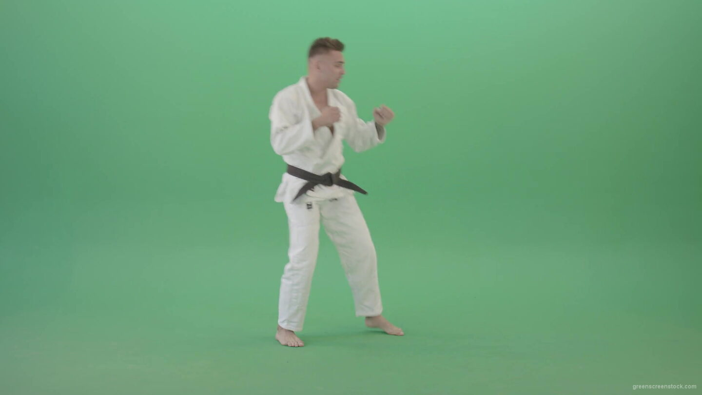 vj video background Jujutsu-Sportman-training-isolated-on-green-screen-4K-Video-Footage-1920_003