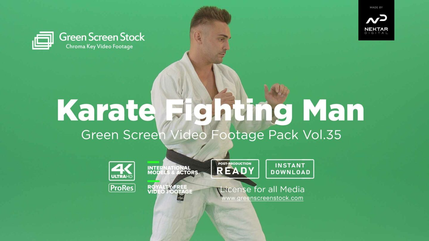 Karate-Fighting-man-green-screen-video-footage--collections-4k
