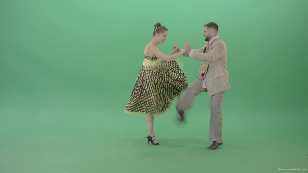 vj video background Lovely-couple-jumping-in-Boogie-woogie-dance-isolated-on-Green-Screen-4K-Video-Stock-Footage-1920_003