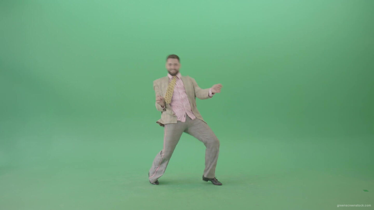Man-dancing-shuffle-jazz-swing-Boogie-woogie-and-jumping-isolated-over-Green-Screen-4K-Video-Footage-1920_005 Green Screen Stock