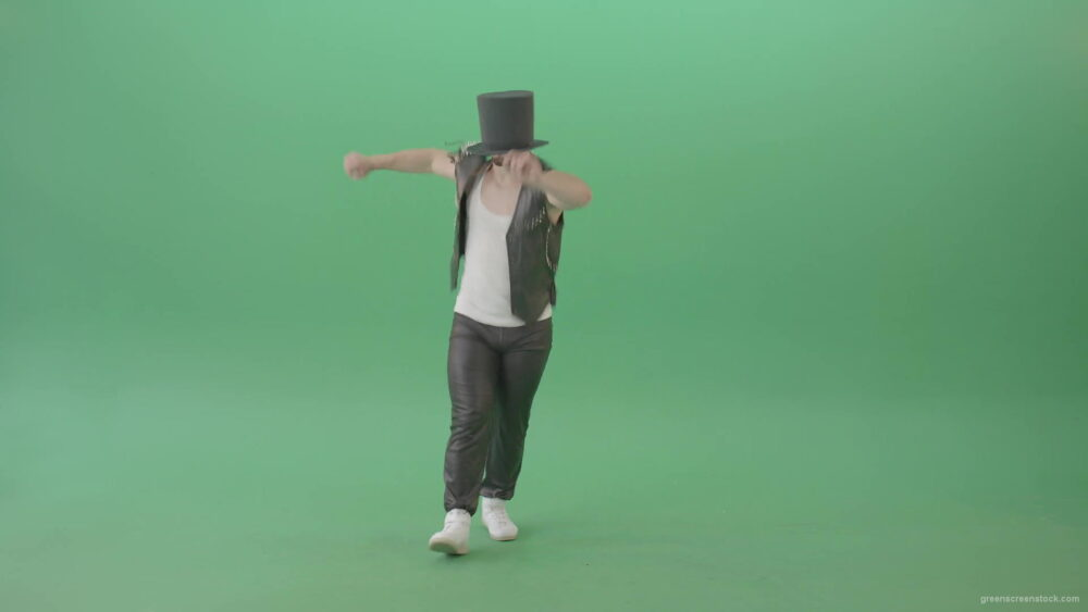vj video background Man-in-black-Busines-Cylinder-Hat-dancing-and-jumping-in-Shuffle-dance-isolated-on-Green-Screen-4K-Video-Footage-1920_003