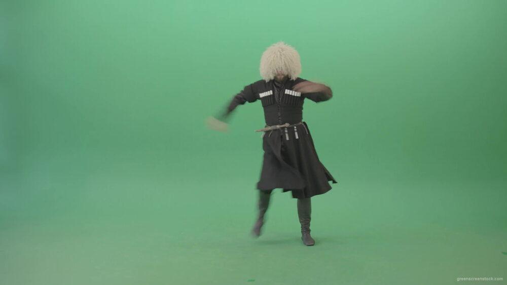 vj video background Man-in-georgian-national-costume-dancing-Khorumi-folk-dance-isolated-on-Green-Screen-4K-Video-Footage-1920_003