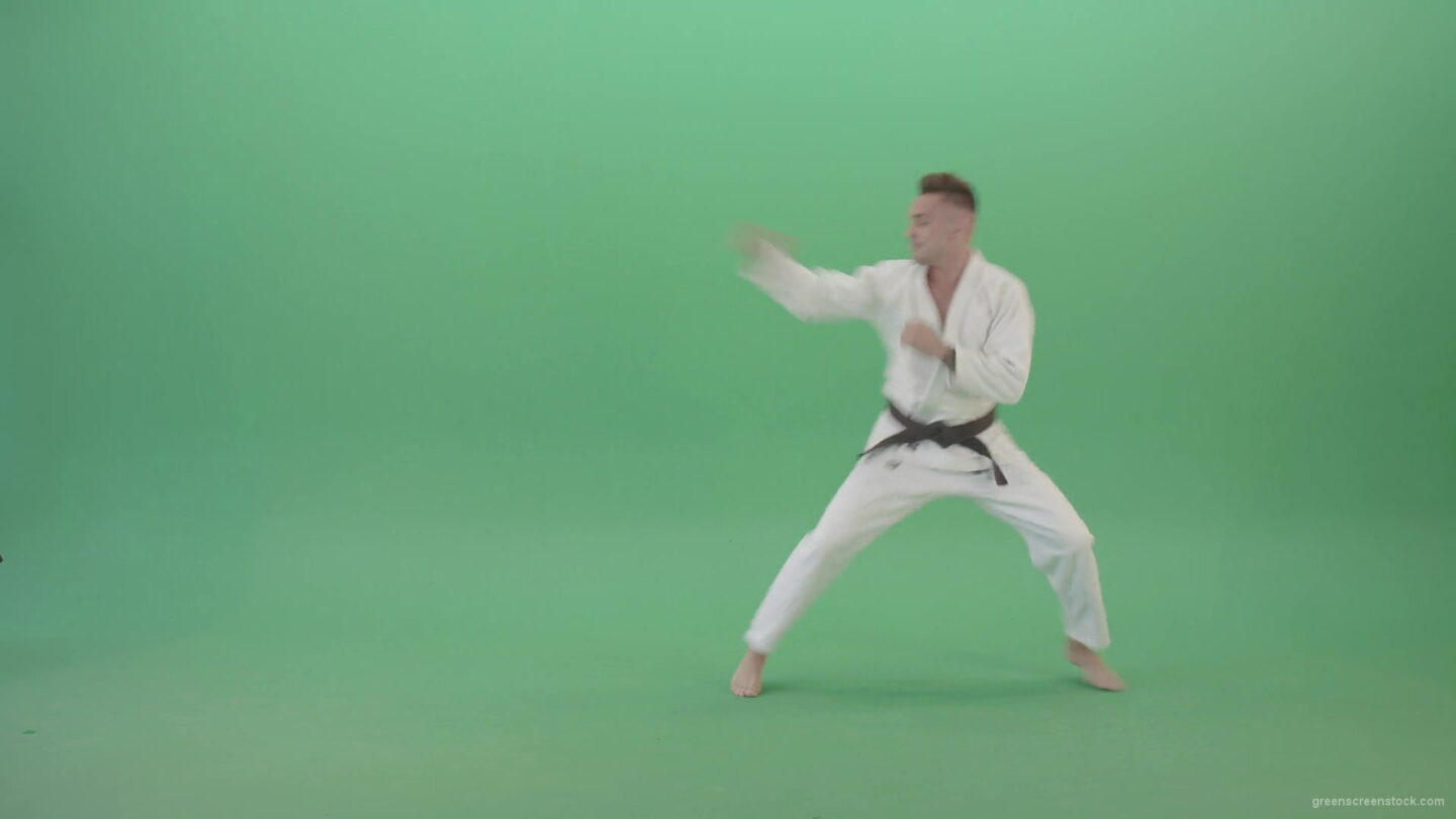 Mortal-Kombat-by-Karate-Ju-Jutsu-trainer-sportsman-isolated-on-green-screen-4K-Video-Footage-1920_004 Green Screen Stock