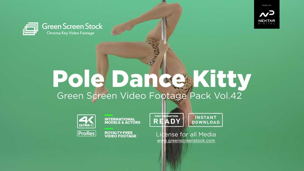 Pole-Dance-Kitty-Green-Screen-Video-Footage