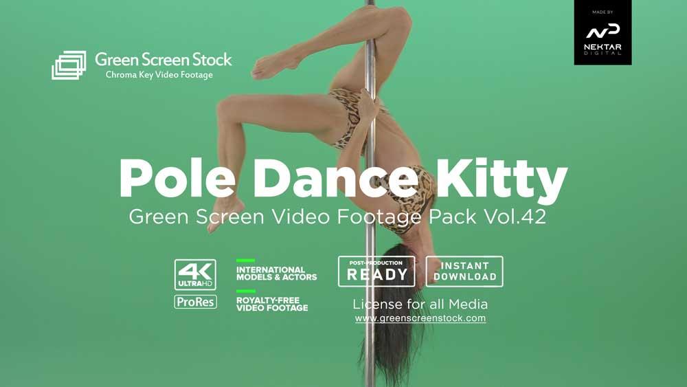 Pole-Dance-Kitty-Green-Screen-Video-Footage