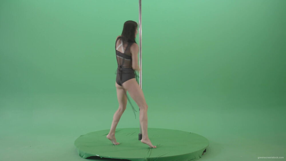 vj video background Sexy-girl-in-Lingerie-wear-dancing-strip-pole-dance-isolated-on-green-screen-4K-Video-Footage-1920_003