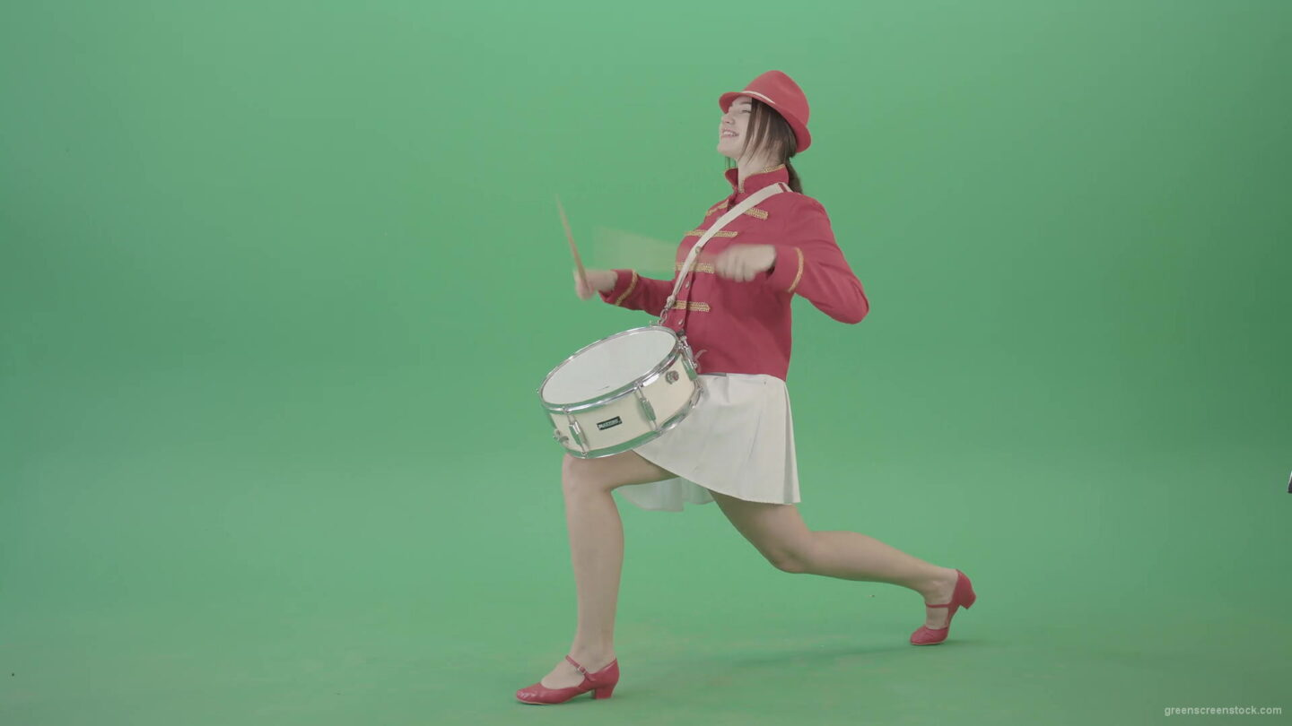 vj video background Stupid-funny-advertising-video-footage-with-drumming-girl-isolated-on-green-screen-4K-Video-Footage-1920_003