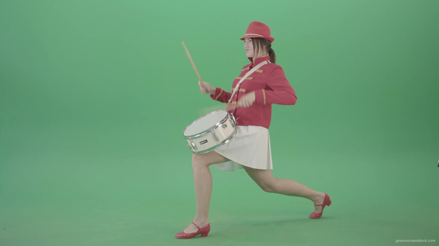 Stupid-funny-advertising-video-footage-with-drumming-girl-isolated-on-green-screen-4K-Video-Footage-1920_009 Green Screen Stock