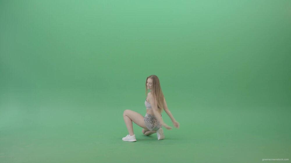 vj video background Amrican-girl-in-gray-dress-vellure-underwear-shaking-ass-in-twerk-dance-isolated-on-Green-Screen-4K-Video-Footage-1920_003
