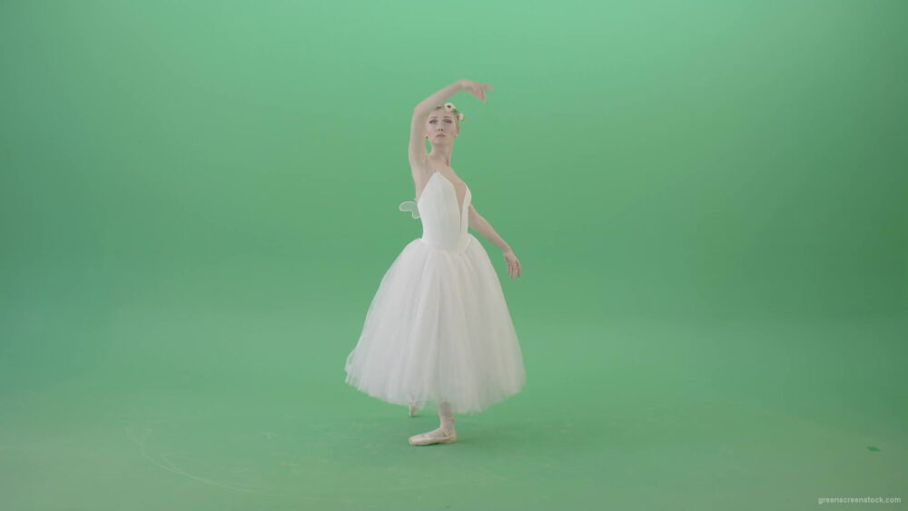 vj video background Ballet-Art-Princes-making-royal-regards-in-white-wedding-dress-isolated-on-green-screen-4K-Video-Footage-1920_003