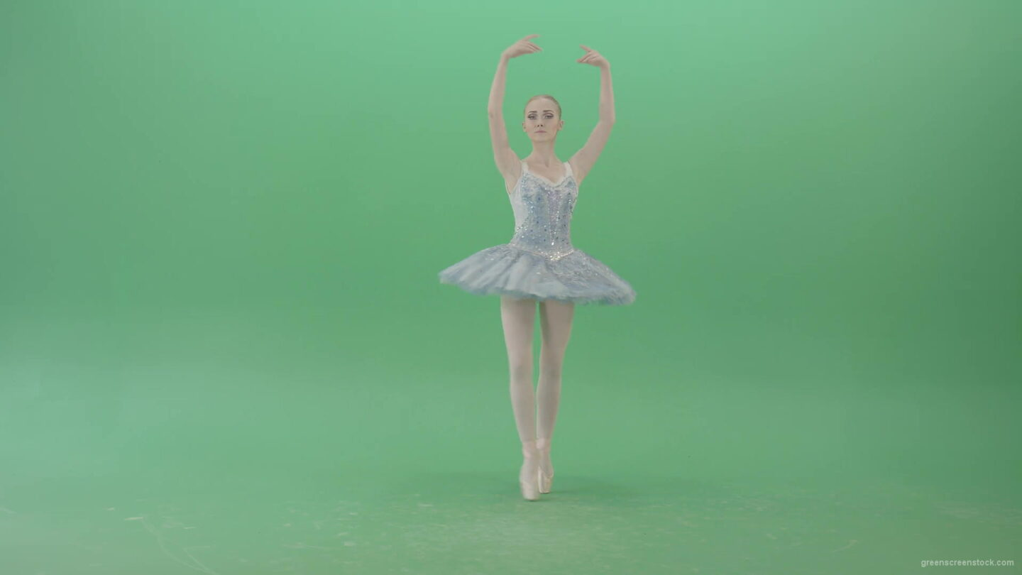 vj video background Beauty-blonde-ballerin-ballet-dancing-girl-in-blue-dress-spinning-over-green-screen-4K-Video-Footag-30fps-1920_003