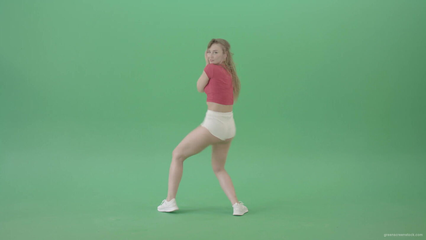 vj video background Bootie-shake-waving-ass-girl-dancing-twerk-on-green-screen-4K-Video-Footage-1920_003
