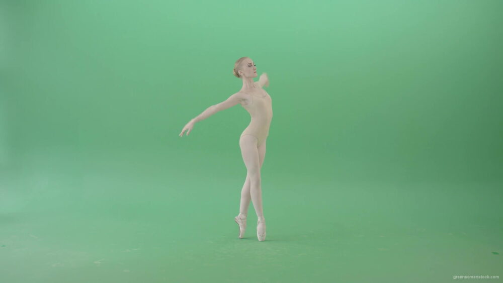 vj video background Classical-Ballet-Art-dancing-girl-in-body-skin-wear-chill-in-practice-isolated-on-green-screen-4K-Video-Footage-1920_003