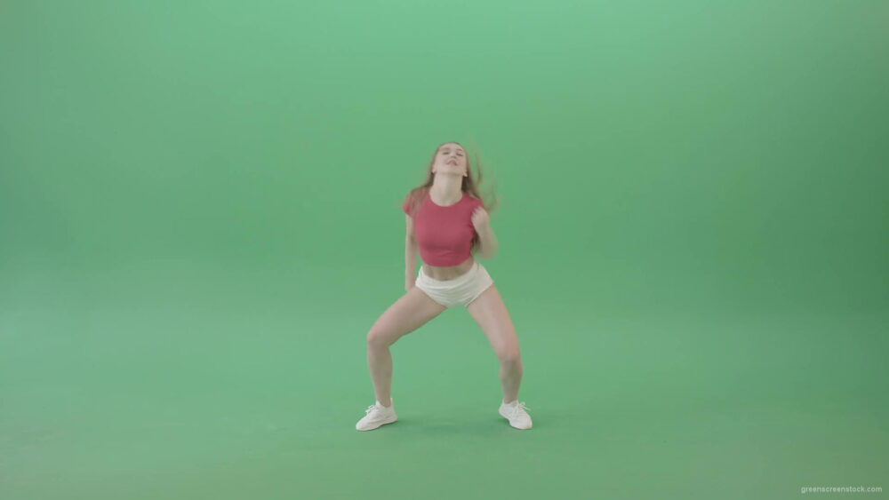 vj video background Energy-Girl-dancing-Twerk-and-Hip-Hop-Dance-isolated-on-Green-Screen-4K-Video-Footage-1920_003