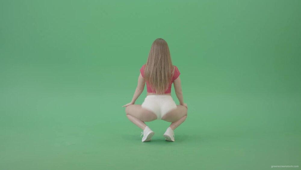 vj video background Girl-in-red-t-shirt-shaking-ass-in-twerk-style-dance-in-green-screen-studio-4k-Video-Footage-1920_003