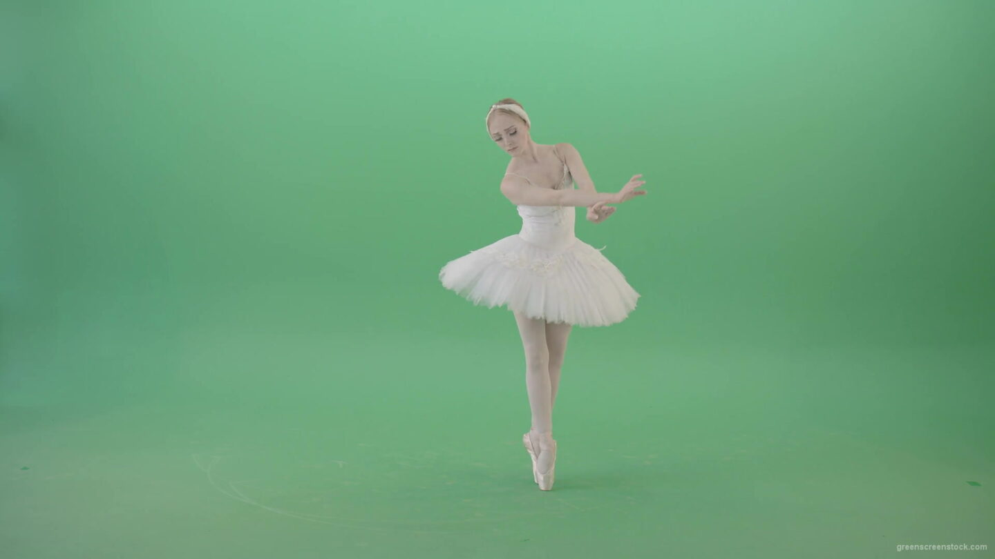 vj video background Grace-Ballerina-dance-classical-ballet-art-in-white-costume-on-green-screen-4K-Video-Footage-1920_003