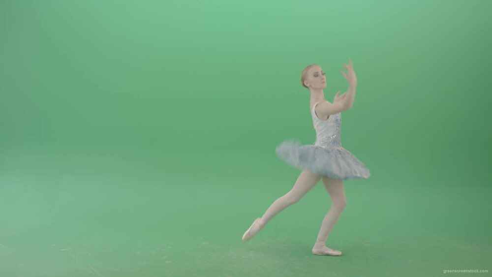 vj video background Happy-Ballerina-Ballet-Dancing-Girl-in-blue-dress-chilling-in-spin-on-green-screen-4K-Video-Footage-1920_003