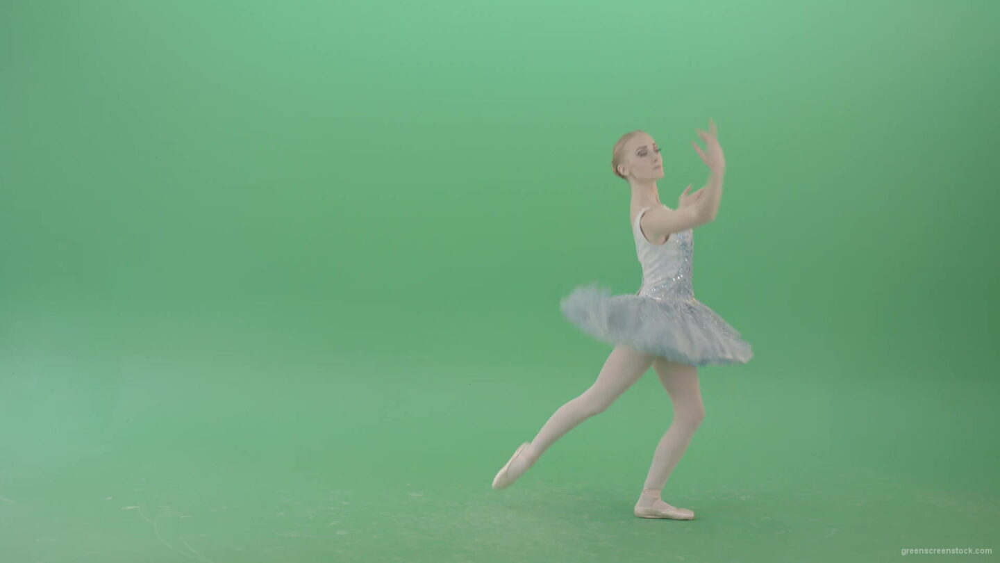 vj video background Happy-Ballerina-Ballet-Dancing-Girl-in-blue-dress-chilling-in-spin-on-green-screen-4K-Video-Footage-1920_003