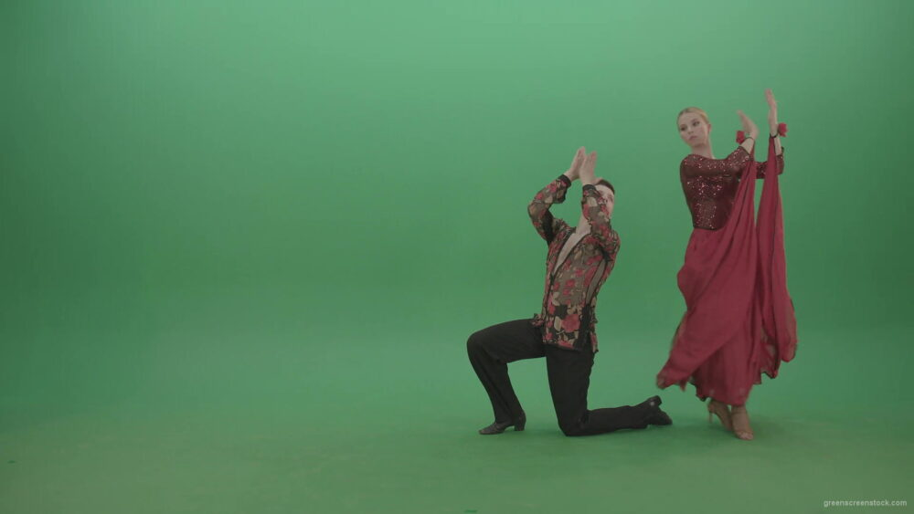 vj video background Passion-Couple-dancing-Rumba-Ballroom-dance-and-clapping-in-hands-isolated-on-green-screen-4K-Video-Footage-1920_003