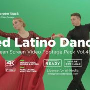 Red-Latino-Dance green screen video footage
