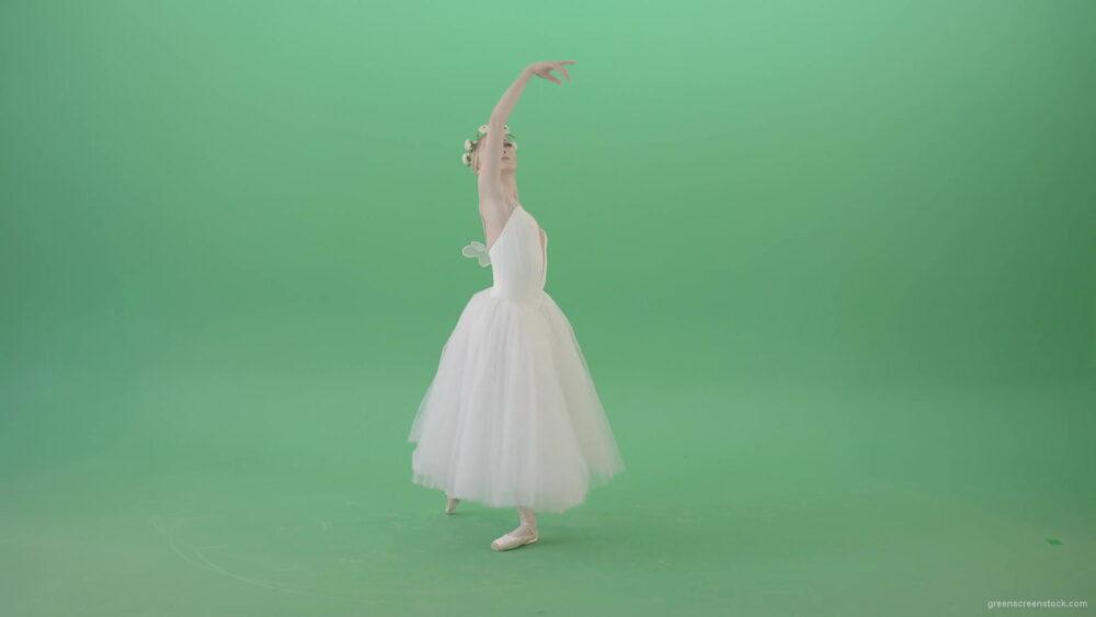 vj video background Royal-elegant-greetings-regards-by-Ballet-Dancer-Girl-in-White-Dress-on-Green-Screen-4K-Video-Clip-1920_003