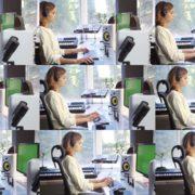 Woman-Working-in-the-Studio-2-Green-Screen-Footage Green Screen Stock