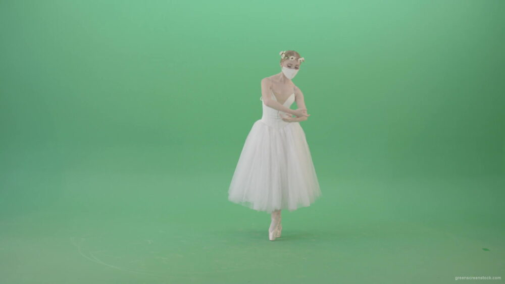 vj video background Ballet-Dance-young-woman-welcome-Corona-Virus-dancing-in-mask-isolated-on-green-screen-4K-Video-Footage-1920_003