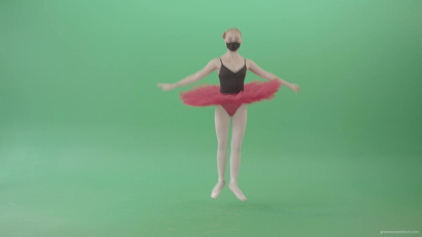 vj video background Blonde-Ballet-Girl-dancing-and-jumping-in-red-black-mask-isolated-on-green-screen-4K-Video-Footage--1920_003