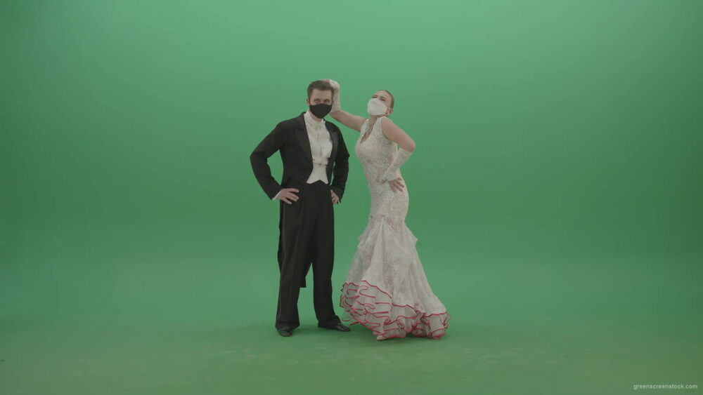 vj video background Funny-happy-balleroom-dancers-couple-chilling-and-laughing-on-green-screen-4K-Video-Footage-1920_003