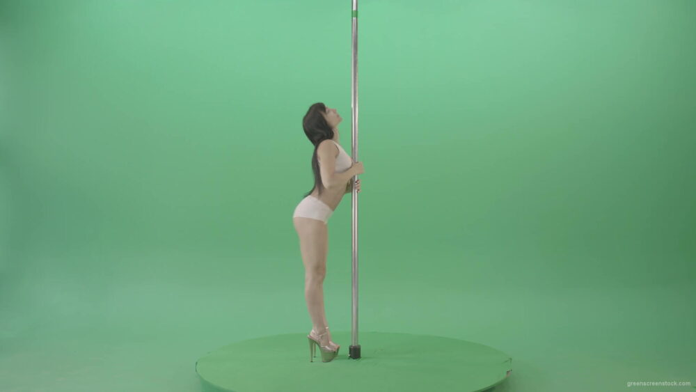 vj video background Pole-Dancing-Girl-waving-with-body-on-green-screen-4K-Video-Footage-1920_003