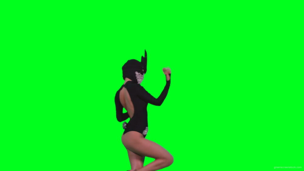 vj video background Sexy-bunny-girl-dance-performs-in-rabbit-costume-on-green-screen-4K-Video-Footage-1920_003